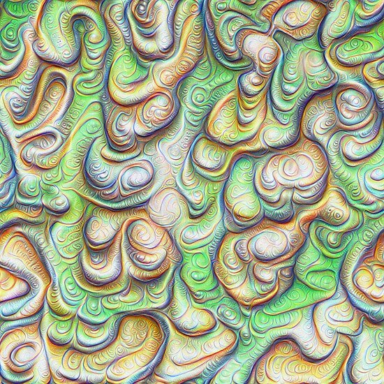Frozen liquid green stones #DeepDream #Art