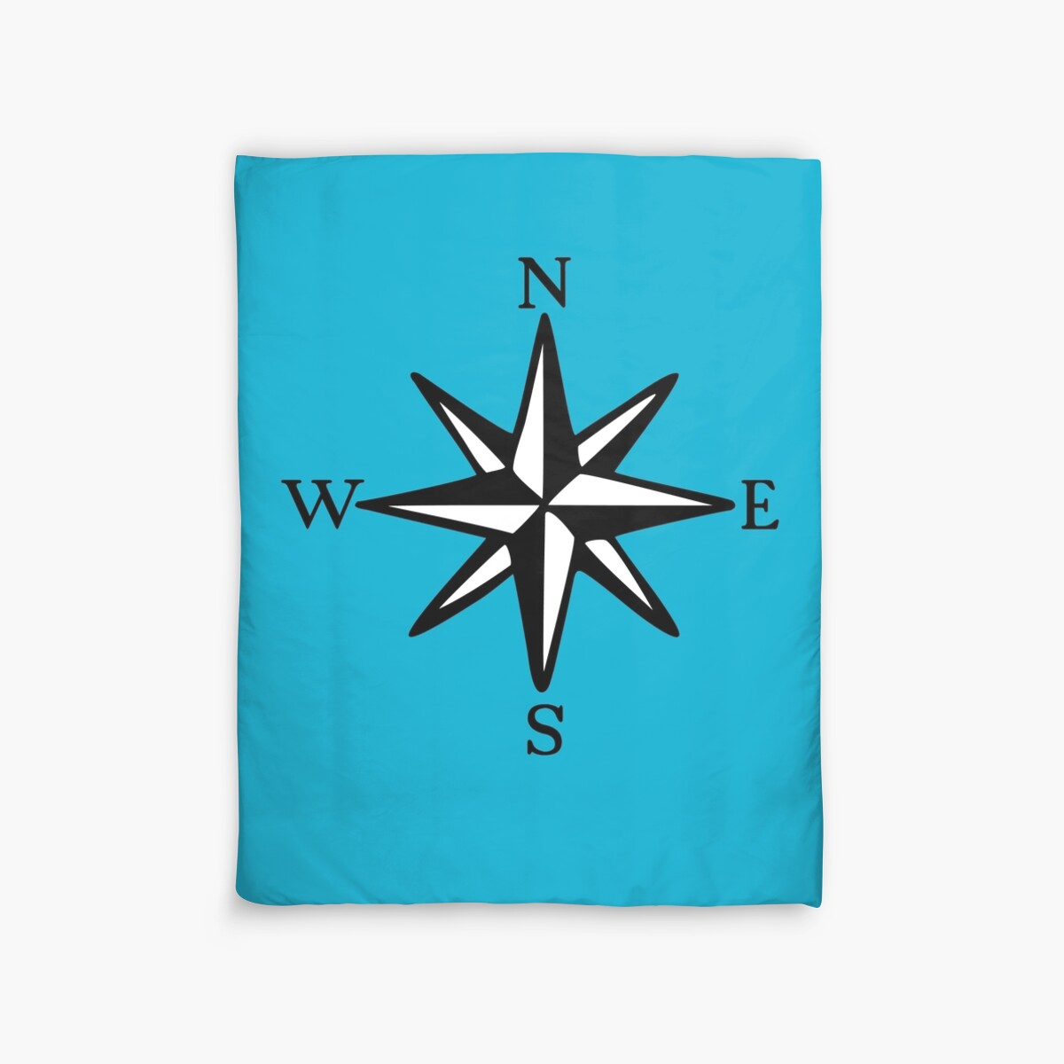 Compass Rose Nosw Two Color Duvet Covers By
