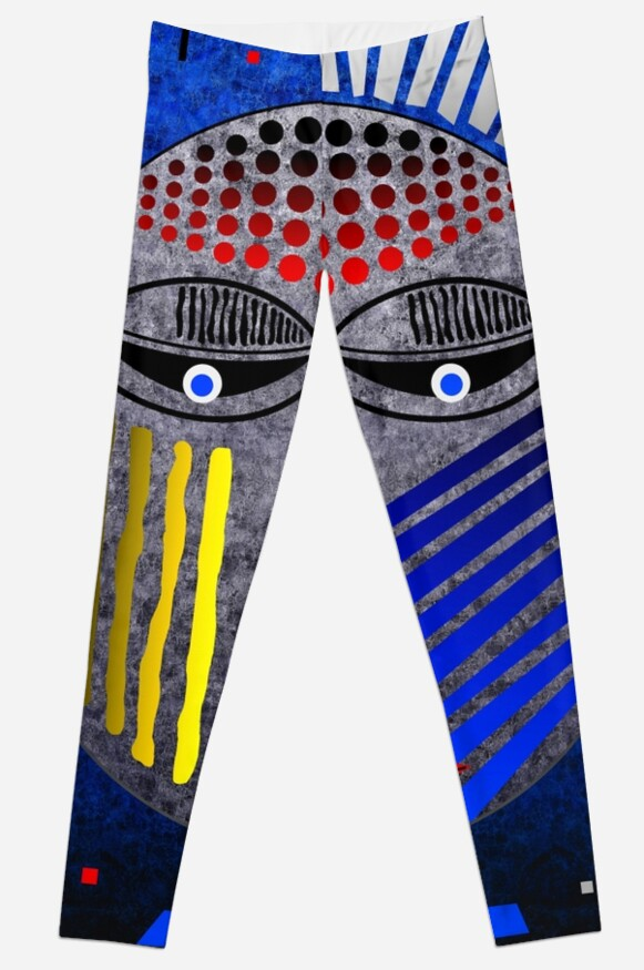 'Tribal Whimsy 12' Leggings by Glen Allison
