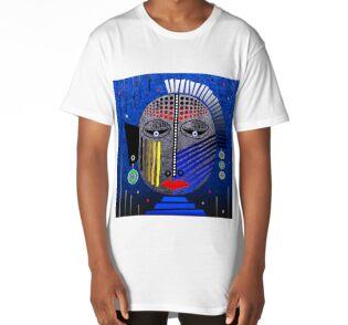 'Tribal Whimsy 12' Long T-Shirt by Glen Allison