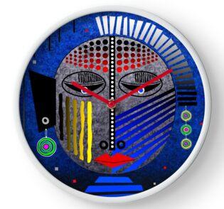 'Tribal Whimsy 12' Clock by Glen Allison