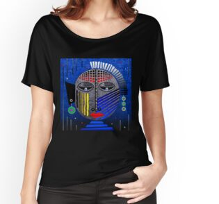 'Tribal Whimsy 12' Women's Fitted Scoop T-Shirt by Glen Allison
