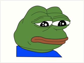 Resultado de imagem para pepe the frog meme sad