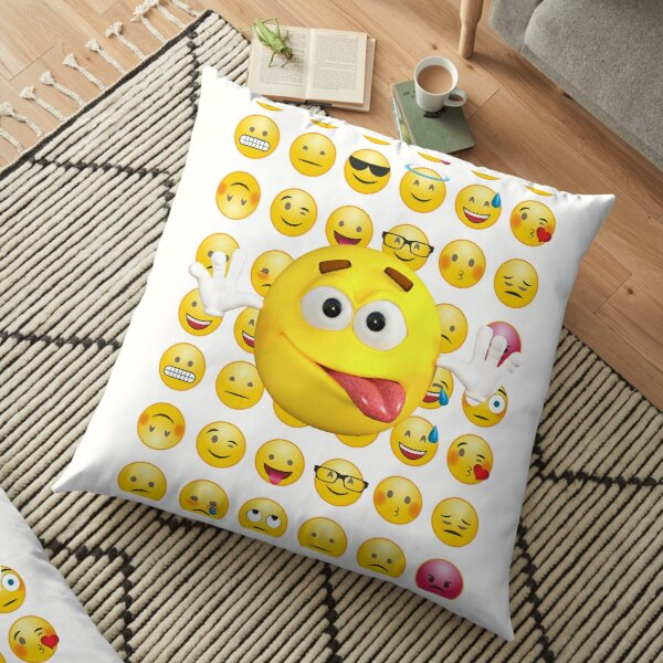 eyes closed tongue out novelty emotive cushion pillow kids bed room drawing gift sointechile cl