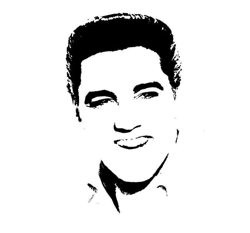 Elvis Presley Silhouette By Chris2766 Redbubble