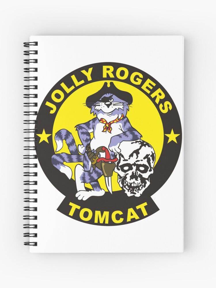 F 14 Tomcat Vf 84 Jolly Rogers Spiral Notebook