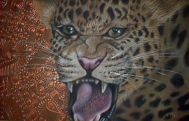 Leopard Attack by Cherie Roe Dirksen