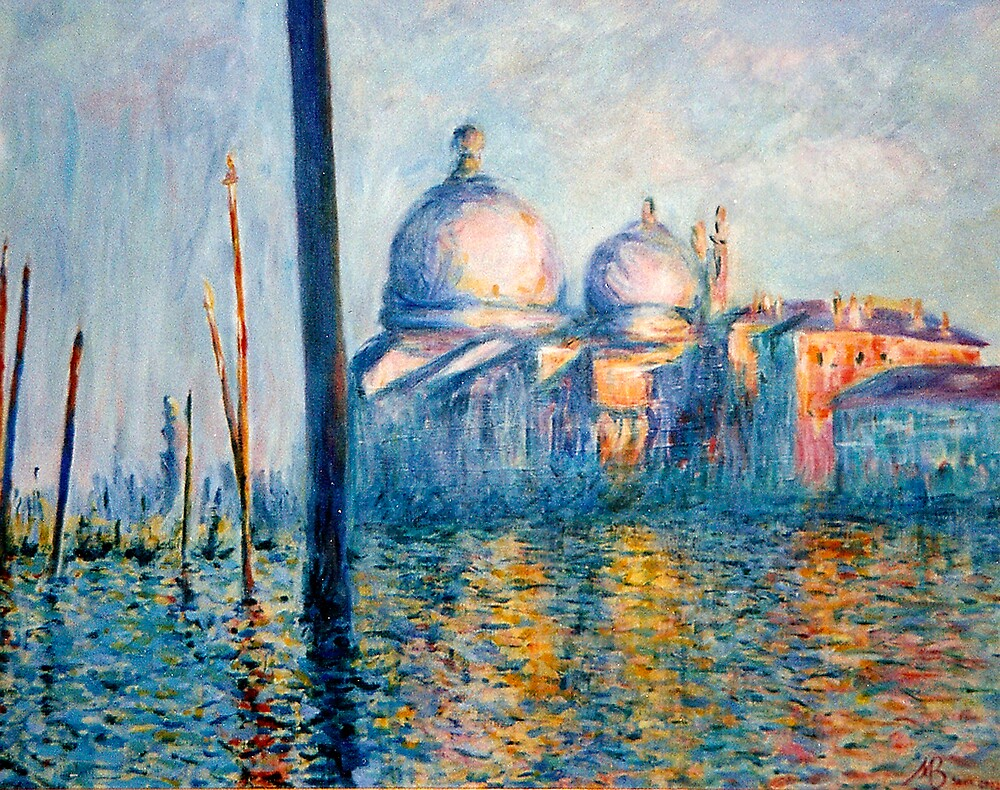 After Monet The Grand Canal By Marilyn Brown Redbubble