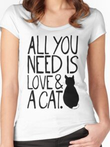 All You Need Is Love and A Cat Shirts. Designed with love for every kitty lover by The Love Shop.
