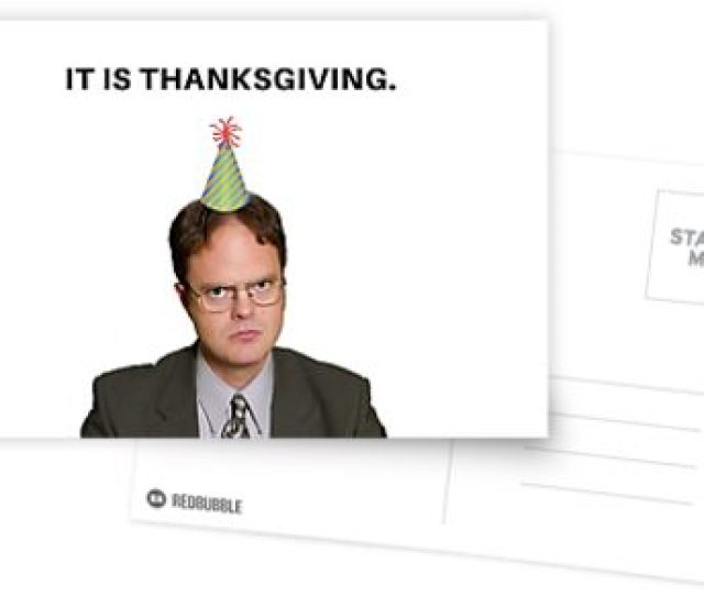 Funny Thanksgiving Card Dwight Schrute The Office Tv Show Us Meme Greeting Cards