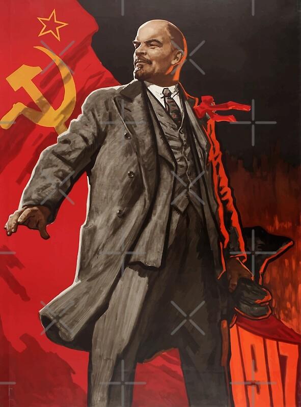 """""""Vladimir Lenin vintage propaganda poster"""" by ..."""