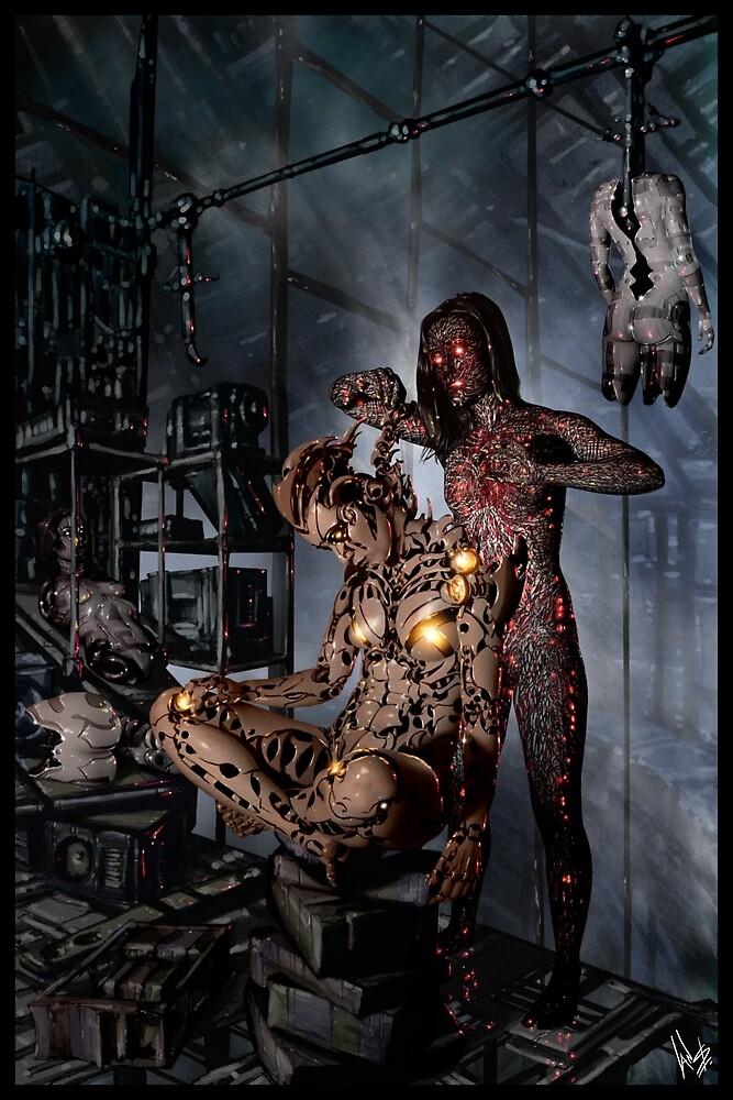 Cyberpunk Painting 058 By Ian Sokoliwski Redbubble