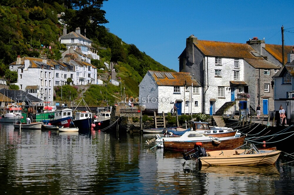 Polperro Harbour Cornwall By Rodsfotos Redbubble