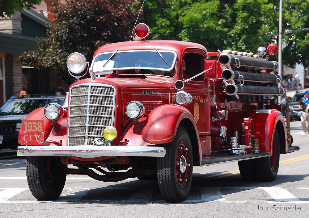 Mack 1938 Fire Truck By John Schneider Redbubble