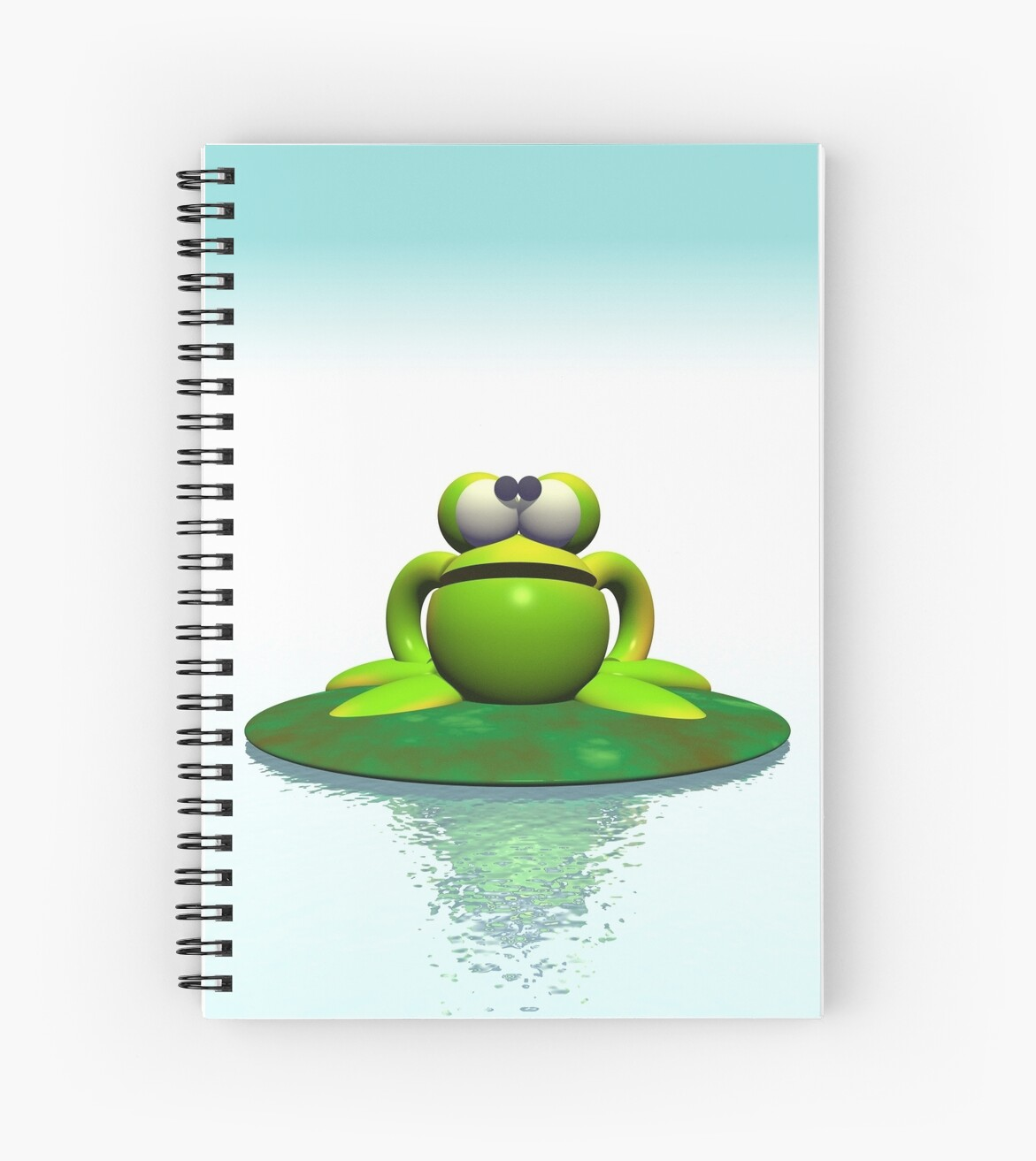 Green Frog On A Lilypad Spiral Notebooks By Iconymous