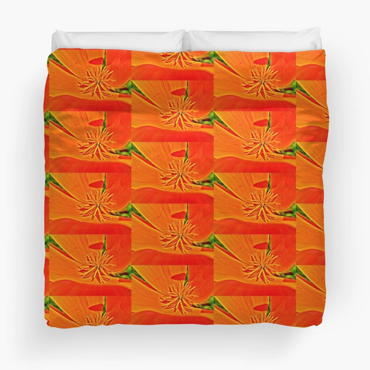 Orange Poppy Star by 32DARTS