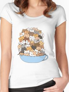 Cup'o Kittens Shirts. Cappuccino Cat Illustration.