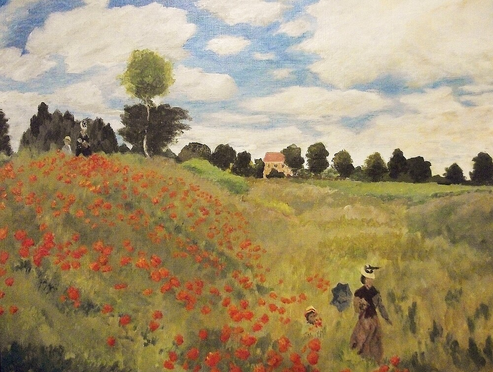 Poppy Field Near Argenteuil By Gary Adams Redbubble