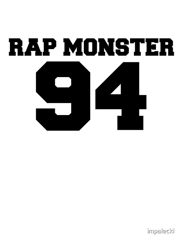 BTS Bangtan Boys Rap Monster Football Design Black