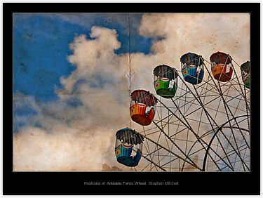 Postcard of Adelaide Ferris Wheel, by Stephen Mitchell, on Redbubble