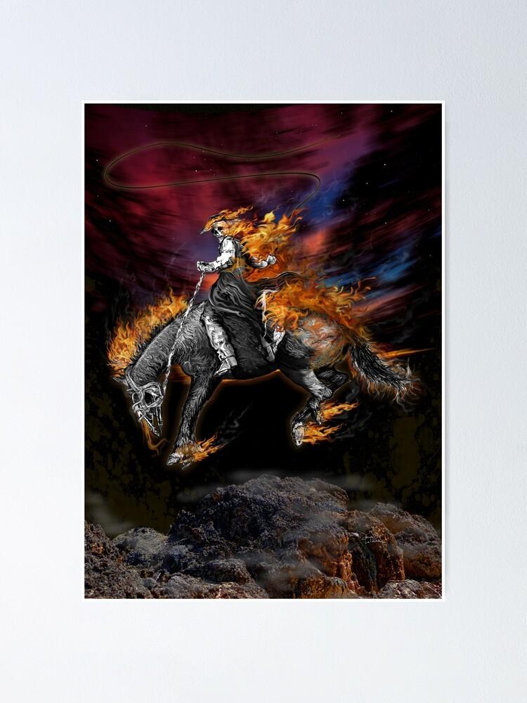 texas ghost rider poster von oz10 redbubble