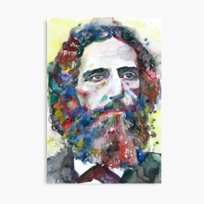 "FRANZ BRENTANO watercolor portrait"" Canvas Print by lautir 
