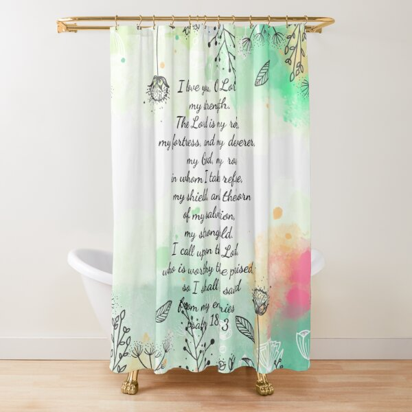 christian bible verse faith hope love shower curtain by olivet redbubble