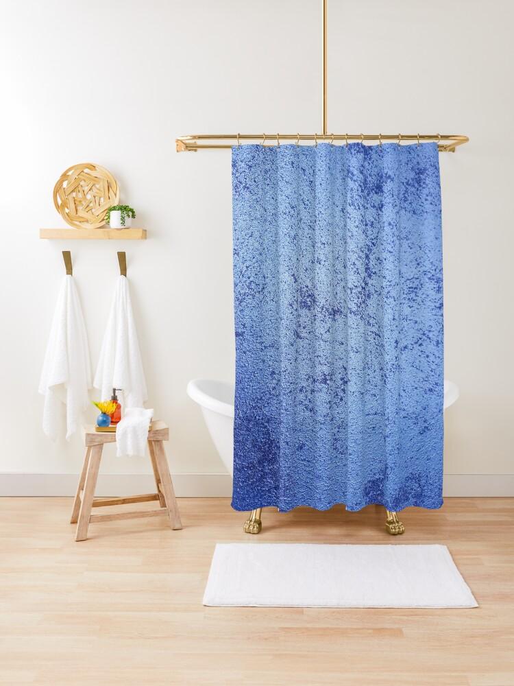 royal blue shower curtain by vauvau redbubble