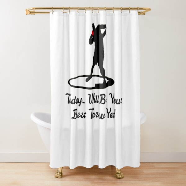 men s hurdles up over and fly shower curtain by spinningvisions redbubble