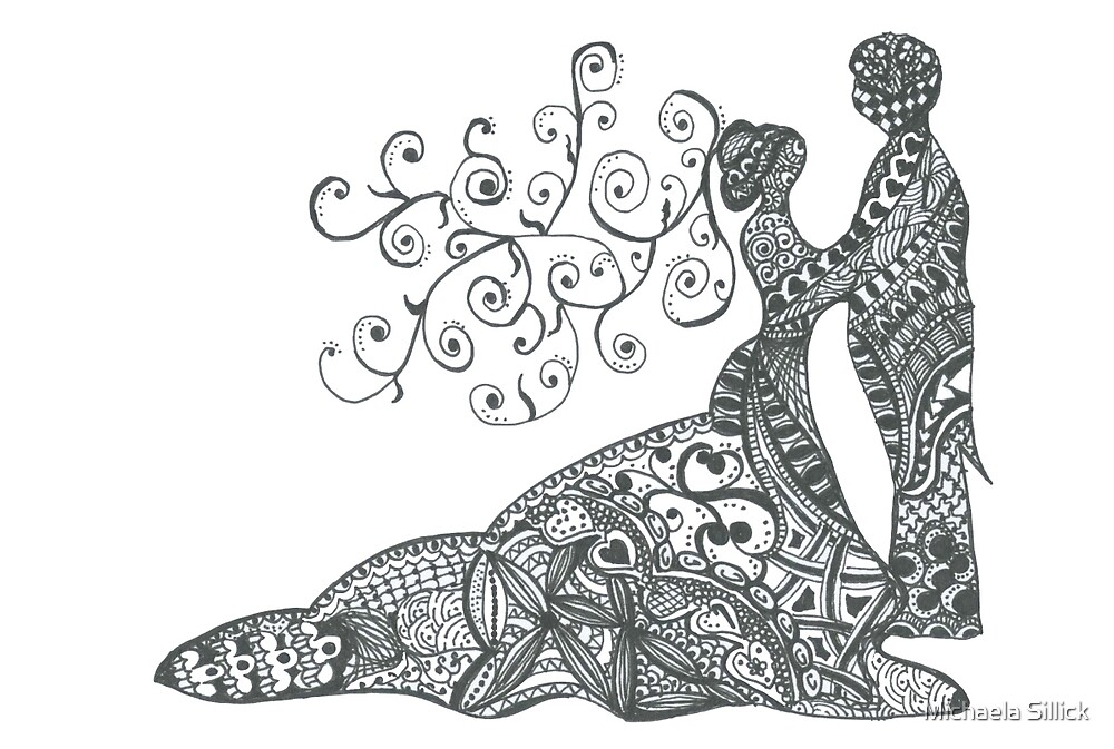 Doodle Art Wedding By Michaela Sillick Redbubble