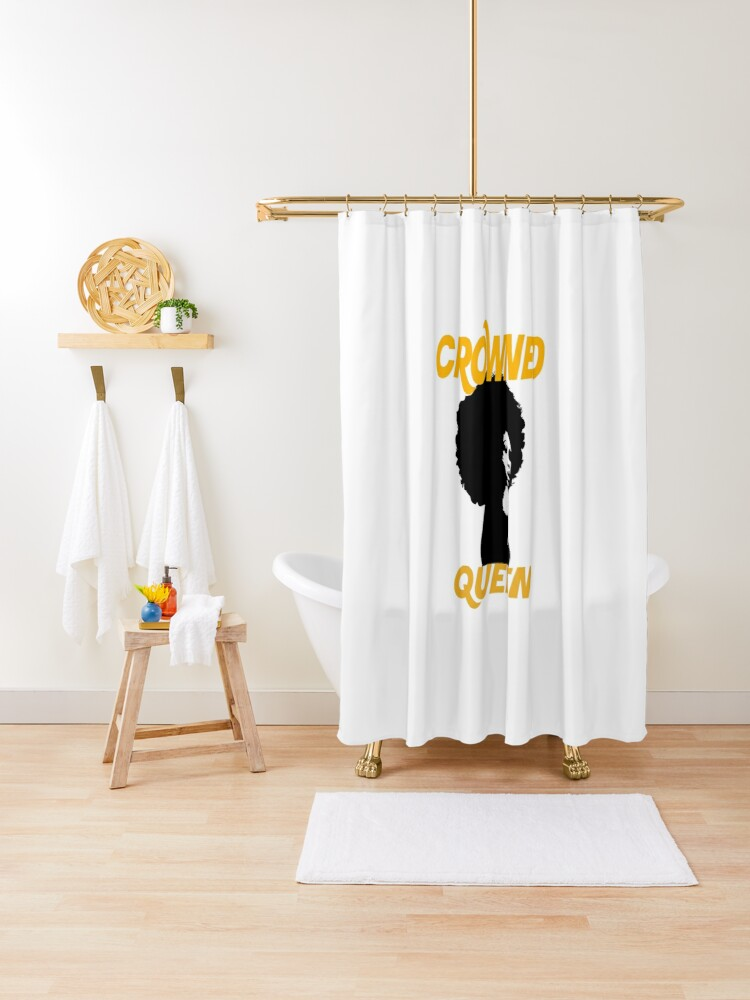 black queen afro shower curtain by ogrell540 redbubble