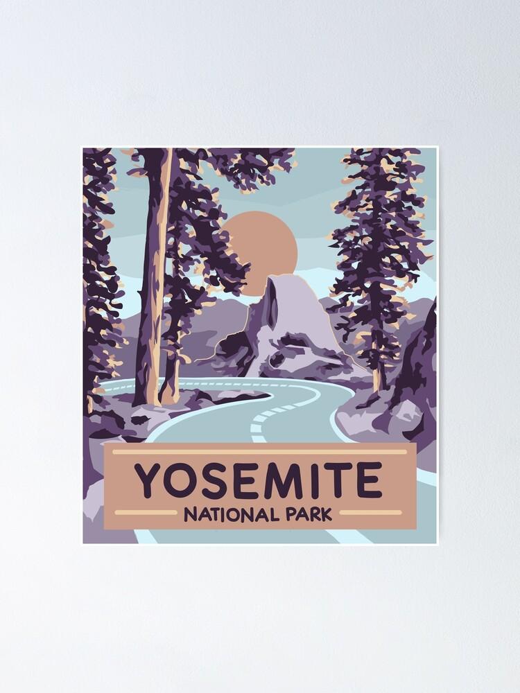 yosemite national park poster poster by rskarts redbubble