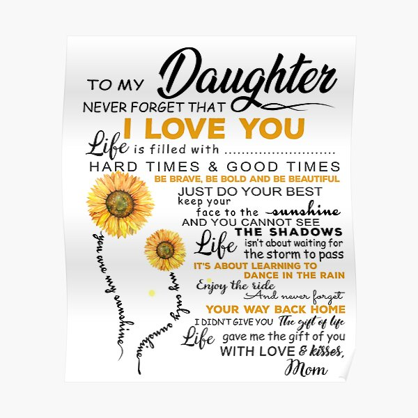 """Download """"Sunflower To My Daughter Never Forget That I Love You Mug ..."""