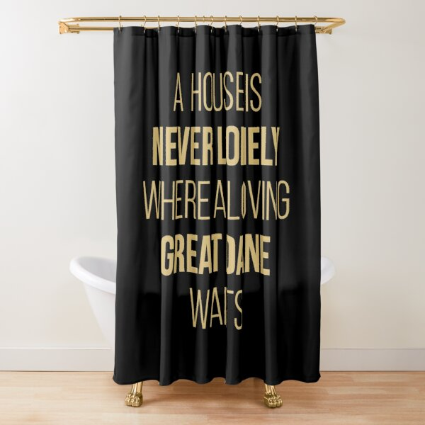great dane owner funny shower curtain by duxdesign redbubble