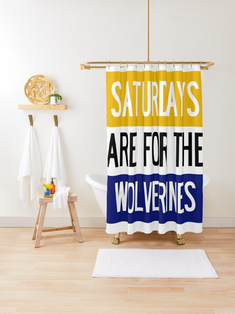 saturdays are for the wolverines university of michigan shower curtain by juliajohnsonx redbubble