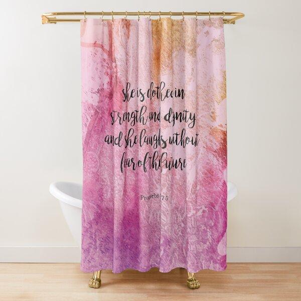 bible scripture shower curtains redbubble
