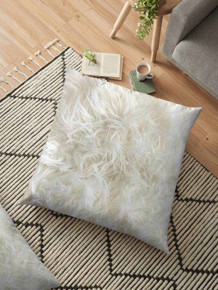 faux fur floor pillow online