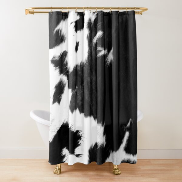 modern cowhide faux leather shower curtain by cadinera redbubble