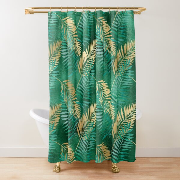 gold pattern shower curtains redbubble