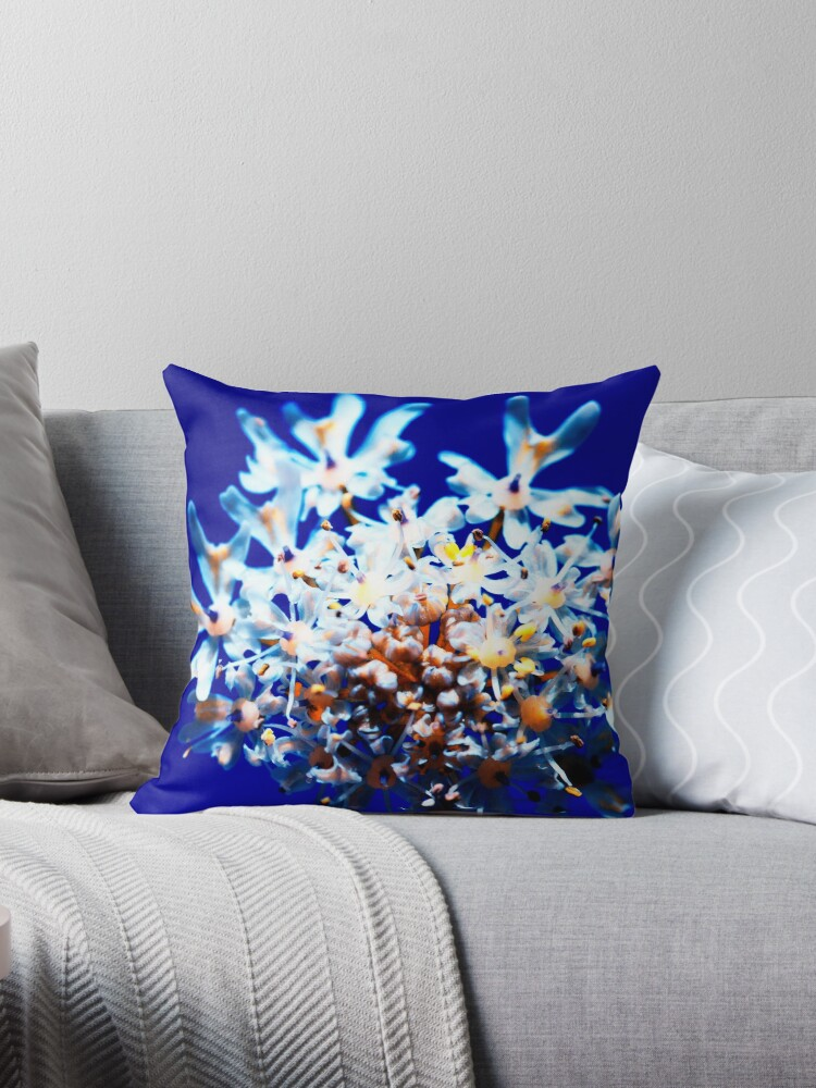 queen anne lace throw pillow by heidiannemorris redbubble