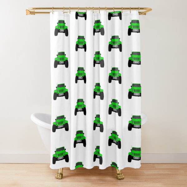 jeep life shower curtains redbubble
