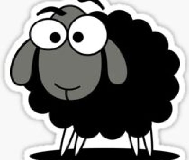 Black Sheep Cartoon Funny T Shirt Sticker Duvet Cover Sticker