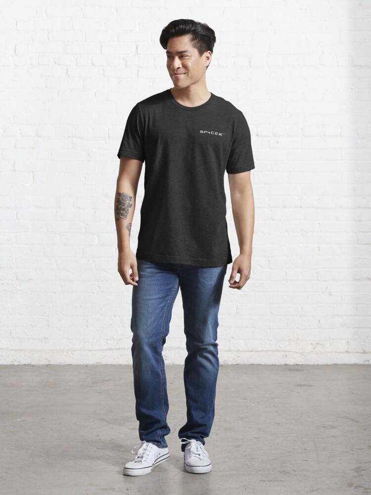 """SpaceX Logo - White"" T-shirt by nouravineyard | Redbubble"