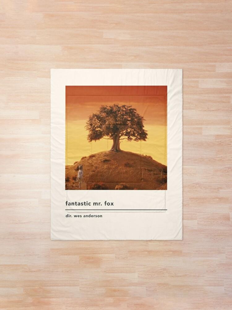 minimalist fantastic mr fox movie poster comforter by kylabiles redbubble