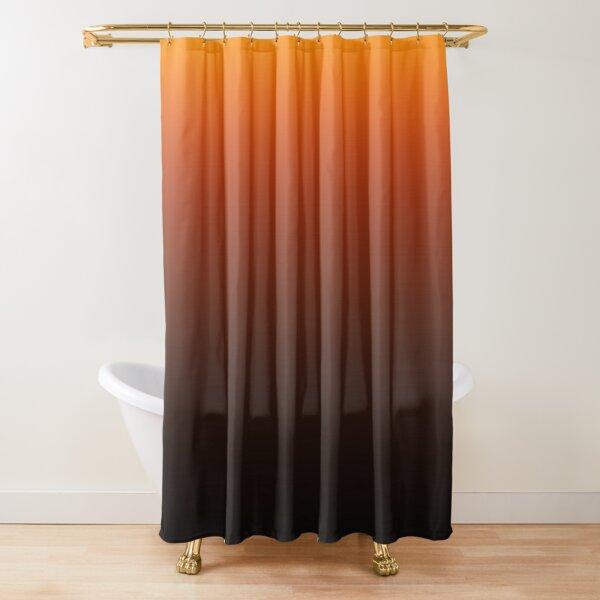 dark orange shower curtains redbubble