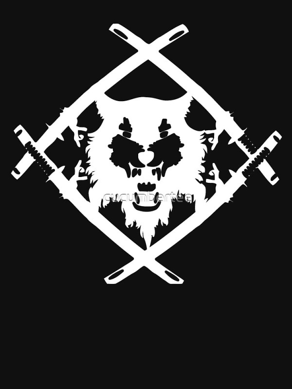 """Xavier Wulf Black"" T-shirt by cucumbertee 