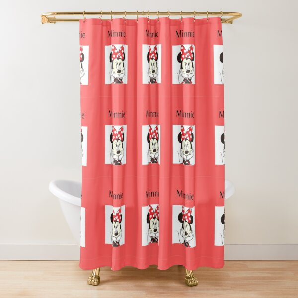 minnie mouse shower curtains redbubble