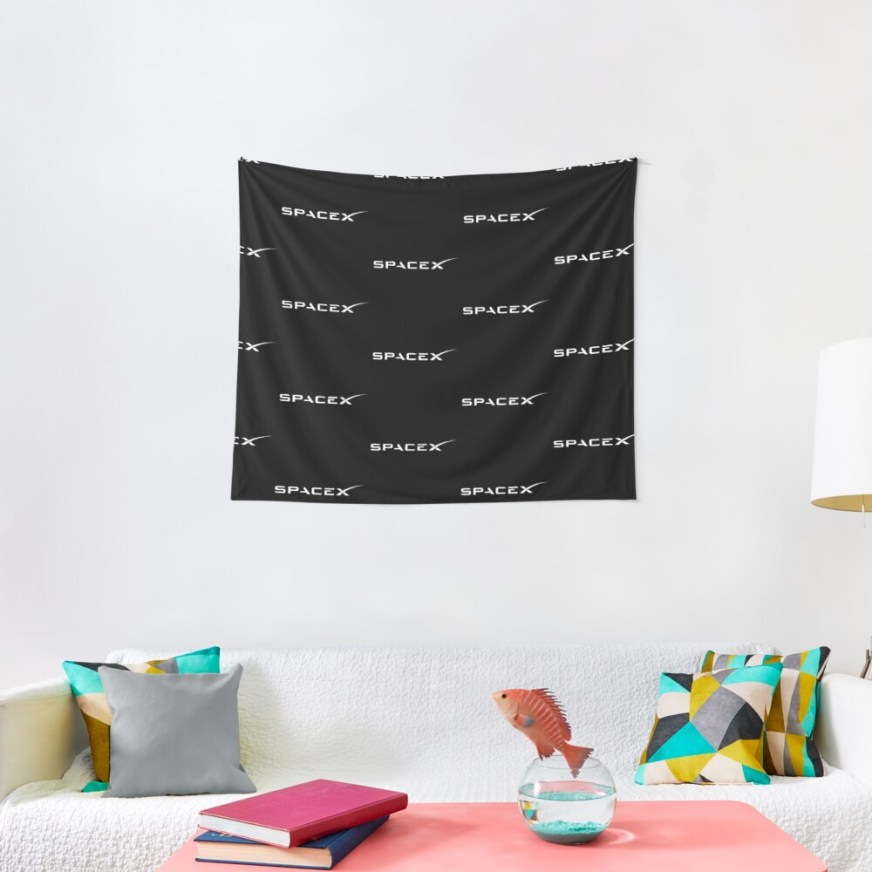 """""""SpaceX White Logo """" Tapestry by FromNathan 