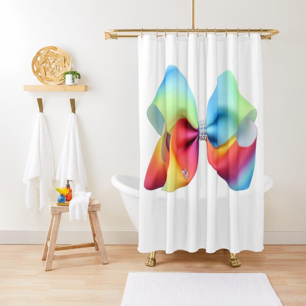 jojo siwa shower curtain by jovialatieno redbubble