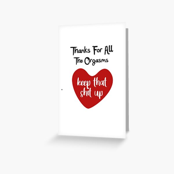 Download Naughty Anniversary Greeting Cards | Redbubble